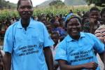 Grace Mvula and husband Brains Mvula, dancing at gender equality campaign