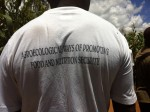 """""""Agroecological ways of promoting food and nutritional security"""" - our pretty cool T-Shirt"""