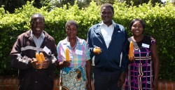 MAFFA Farmers (from left to right) Edwin Nyati, Mary Kombani, Rodgers Msachi, and Esther Maona, shared their stories at the 'Agroecology-Based Smallholder Farming in Malawi' policy workshop in Lilongwe, Malawi