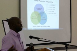 Dr. Blessings Chinsinga presents at the MAFFA policy workshop